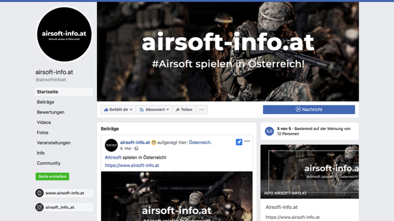 like airsoft-info.at on facebook